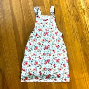 1st Kiss Girls Floral Overall Dress